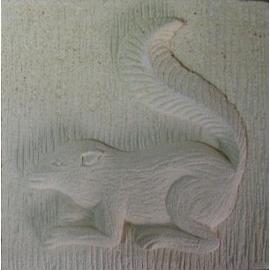 △峇里島砂岩 15x15x5CM 石雕片~正方形窗花壁飾花磚砂岩 石雕片 花磚 壁磚