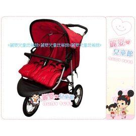 麗嬰兒童玩具館~美國欣康SYNCON法拉利雙胞胎並排豪華雙人三輪手推車TS436