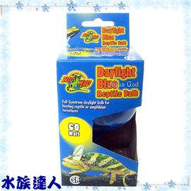 【水族達人】美國ZOO MED《白天藍色爬蟲燈泡.60W》保溫必備!
