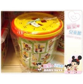 麗嬰兒童玩具館~正台灣製ST安全玩具-小小BABY樂高積木.60pc桶裝時鐘積木款