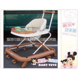 麗嬰兒童玩具館~專櫃-台製彩色水果後控可煞車靜音學步車(新版抗菌防暪布)
