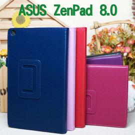【斜立、帶筆插】華碩 ASUS ZenPad 8.0 Z380C P022 /Z380KL P024 專用荔枝紋皮套/書本式側掀平板保護套/支架展示