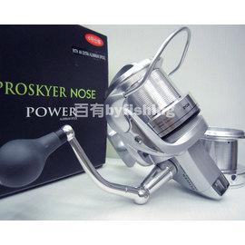 ◎百有釣具◎日本RYOBI- PROSKYER- NOSE  POWER 6號 遠投雙線盃捲線器