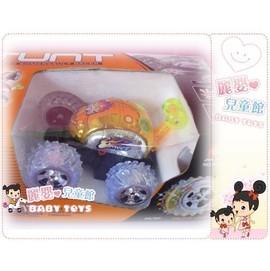 麗嬰兒童玩具館~《小男孩最愛》超酷小子-輪子發亮閃光的360度特技遙控翻滾車