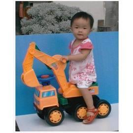 麗嬰兒童玩具館~騎乘大型挖土機/怪手機/火車.可當學步車.