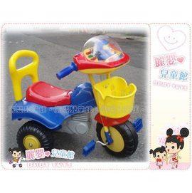 麗嬰兒童玩具館~台灣製.可愛大ic太空人腳踩單人三輪車.摩托車造型好可愛