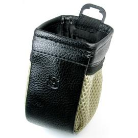 汽車用置物架 飲料架皮革 外觀二個側邊彈性袋子 內附冷氣孔夾 隨意貼夾子 車內隨意掛放多