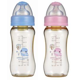 酷咕鴨 KU.KU 新防脹氣PES寬口葫蘆奶瓶(280ml) (KU5827)   *新包裝新上市!*