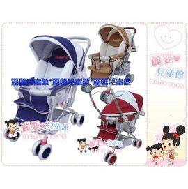 麗嬰兒童玩具館~國產透氣加寬雙向加長全罩手推車..加寬輪版更平穩好推