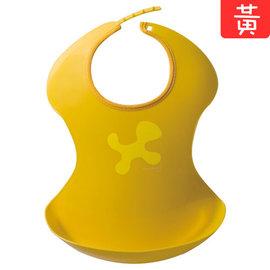 Aprica輕便型餐用圍兜兜 (黃/綠)  *快樂用餐~輕鬆整理!*