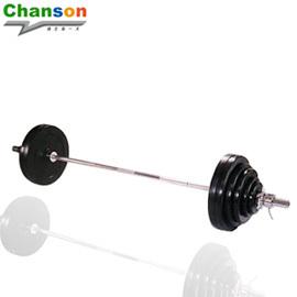 【Chanson 強生】 奧林匹克高級包膠舉重槓片組.舉重.重量訓練.健身.運動 P019-CS-9370