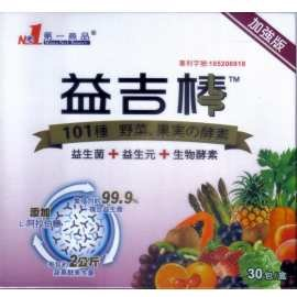 益吉棒^~30包 盒^~三合一專利複合益生菌改變細菌叢生態 5層包覆技術耐胃酸膽鹽 蔬果酵
