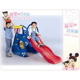 麗嬰兒童玩具館~可愛動物系列-親親Q版大象造型溜滑梯.台灣製