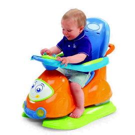 Chicco 新四合一多功能訓練車(橘/綠/蜜桃色)-贈:黃色小鴨隨手包濕紙巾*1包