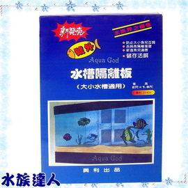 【水族達人】興利《水槽隔離板.2*1.8尺(寬*高)》隔離網 大小標準魚缸適用 超方便!