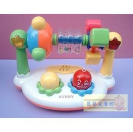 麗嬰兒童玩具館~優質推薦SUNNY嬰兒寶專屬聲光樂園遊戲組-閃光音樂摩天輪