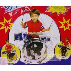 麗嬰兒童玩具館~兒童中型爵士鼓《加值普及版-三鼓一鑼附椅子》愛音樂呦