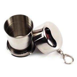 不鏽鋼伸縮隨手杯/環保不鏽鋼伸縮杯~鑰匙圈造型,隨身攜帶超方便!