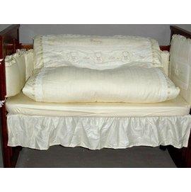 天使熊緹花純棉七件式寢具組 -L-贈品牌嬰兒襪*1雙