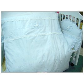 金典米蘭堡純棉七件寢具組(M)-贈品牌嬰兒襪*1雙