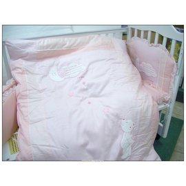 許願星純棉七件寢具組(M)-贈品牌嬰兒襪*1雙-隨機配送~