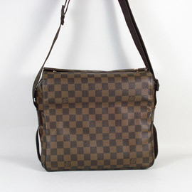 ~9成新~Louis Vuitton LV N45255 NAVIGLIO 棋盤格紋上開口