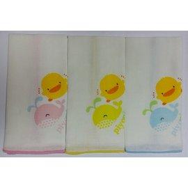 黃色小鴨紗布手帕(3條) #810630