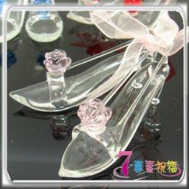 7-專賣祝福 #9829 玫瑰花小玻璃鞋一雙