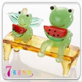 7~專賣祝福 #9829 青蛙吃西瓜小擺飾