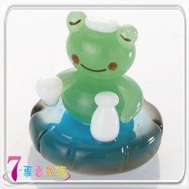 7-專賣祝福 #9829 青蛙泡湯喝清酒小擺飾
