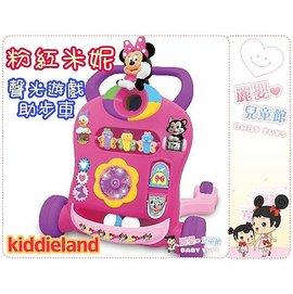 麗嬰兒童玩具館~香港迪士尼kiddieland-米妮/維尼-推行助步車學步車-超炫led聲光投球遊戲