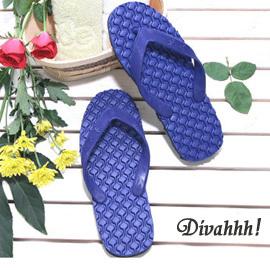 Divahhh達賴喇嘛都愛穿的人字拖^!~地久牌~人字夾腳專利輪胎拖鞋^(深藍色^) Y~