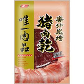 ^~富一食品•唯一肉乾 ^~ 唯一蜜汁炭烤豬肉乾