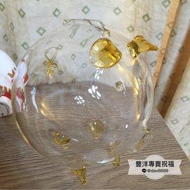 7~專賣祝福~直徑8.5公分琥珀存錢透明玻璃豬 dav8889~bank~c