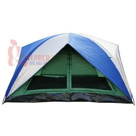 探險家露營帳篷㊣DJ882頂級8人雙門雙窗銀膠蒙古包帳篷(260*350cm)