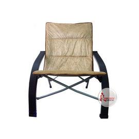 DJ7361折疊舒適彎休閒扶手椅(附收納袋)(絨布面)