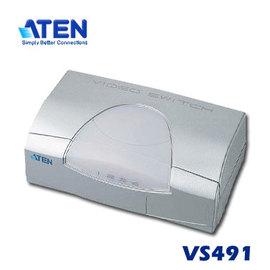 ~可 取貨~ATEN 宏正 VS491 4埠 螢幕切換器 D~sub VGA VS~491