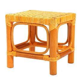 冬022A 籐製工作方椅 印尼 藤椅 藤傢俱 編織 籐椅 籐