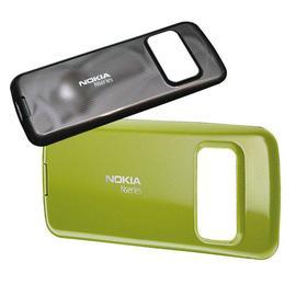 ~采昇通訊~NOKIA N79 背蓋 手機背蓋 可變換手機佈景主題 深咖啡 橄欖綠~