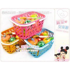 麗嬰兒童玩具館~扮家家酒感覺統合-食物水果切切樂-烹飪提籃組好收納