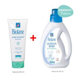 超值【法貝兒】嬰兒專用低敏洗衣精750mL +溫和潔膚乳200mL(法國原裝進口)