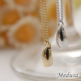 ~Medusa~韓國冰晶水滴小項鍊 金