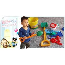 麗嬰兒童玩具館~台灣製厚塑尊特特特特大版沙灘工具組.挖土挖沙附大水桶