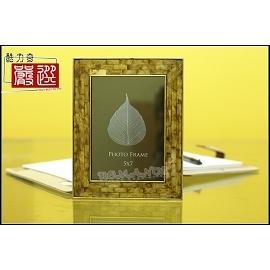 ^~~Romance~^~ AD3168~5x7 ^~暢銷 , 金屬外框、內鑲金黃色貝殼,