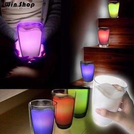 【winshop】☆2個含運送到家☆日系超可愛居家家飾七彩牛奶杯小夜燈,牛奶燈乳牛燈,可當蠟燭、增加氣氛的桌燈喔