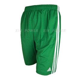 台灣製造! Adidas~吸溼排汗籃球褲(綠/白) (214545)
