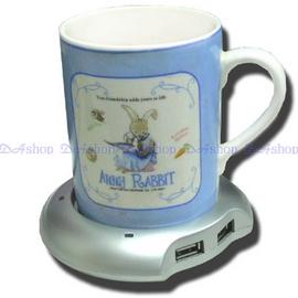 全新 USB 保溫杯墊 碟 享受冬天永遠有熱咖啡可以喝~內建4USB埠(20-067)
