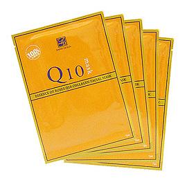 ★全館買就送★DAINTY 丹堤 美國棉黃金玫瑰Q10膠原面膜10片