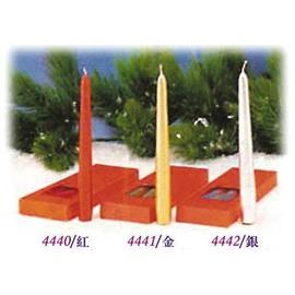 52~4440紅色素面長蠟燭^(每盒4入^)