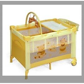 Baby ACE豪華型雙層遊戲床---黃色,再贈:黃色小鴨隨手包濕巾*1